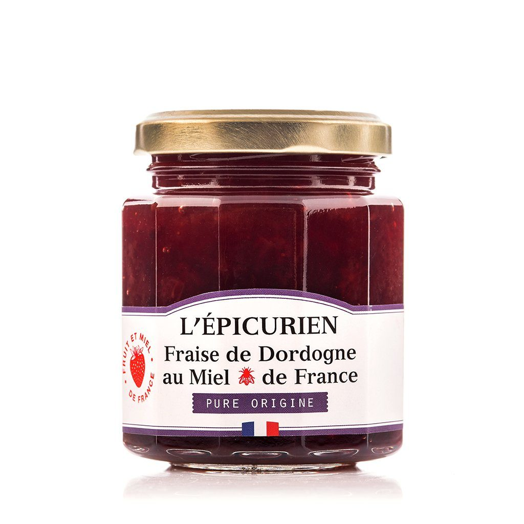 Fraise de Dordogne et miel de France confiture collection L'Épicurien