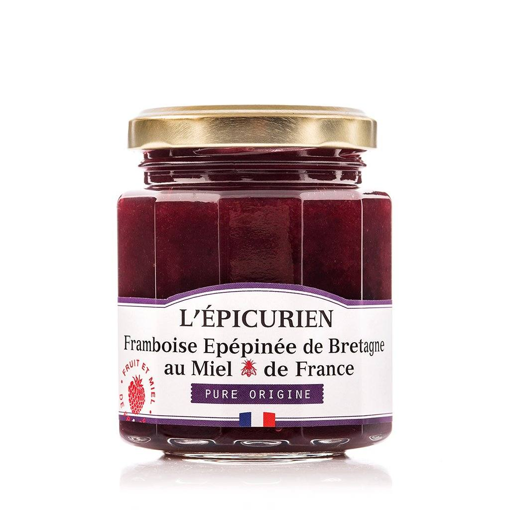 Framboise de Bretagne et miel de France confiture collection L'Épicurien