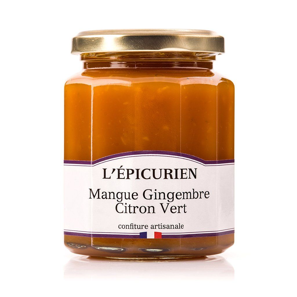 Mangue Gingembre Citron Vert confiture L'Épicurien