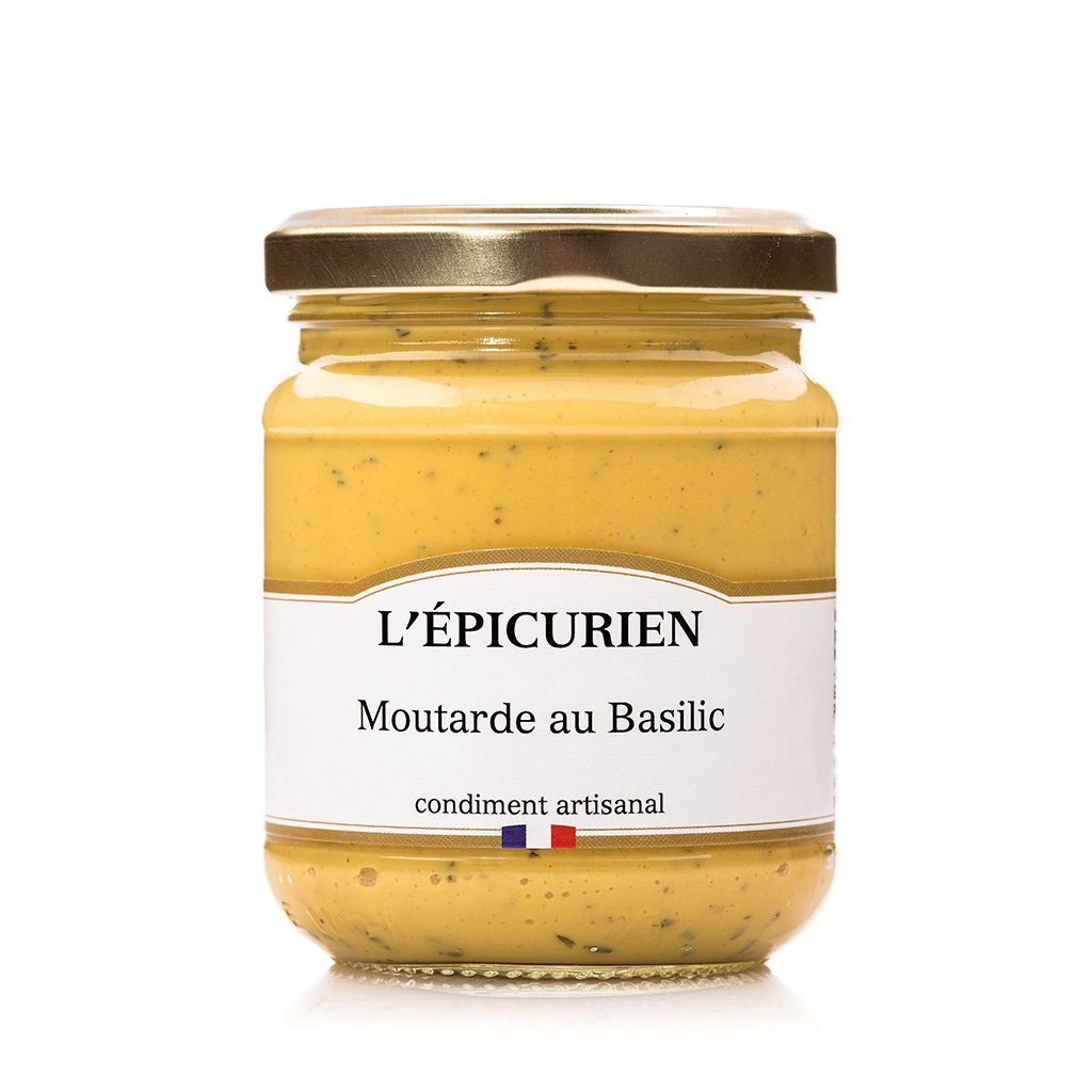 Moutarde au Basilic condiment L'Épicurien