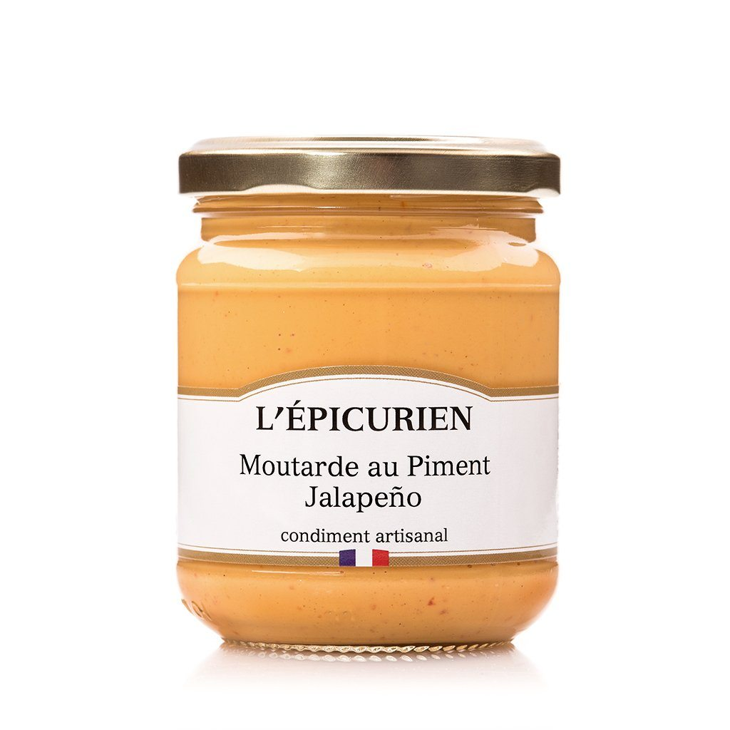 Moutarde au Piment Jalapeño condiment L'Épicurien