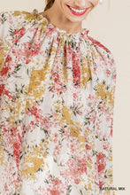 Load image into Gallery viewer, FLORAL NATURAL MIX BLOUSE | PLUS