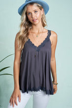 Load image into Gallery viewer, LACE TANK WITH BACK STRAP DETAIL | 3 COLORS