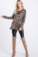 Load image into Gallery viewer, LEOPARD STRAPPY V-NECK TUNIC