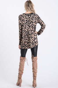 LEOPARD STRAPPY V-NECK TUNIC