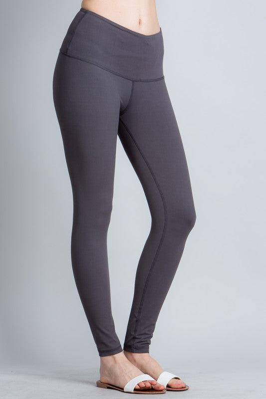 BUTTERY-SOFT FULL LENGTH LEGGINGS | CHARCOAL + MAUVE | REG + PLUS!