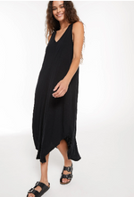 Load image into Gallery viewer, Z SUPPLY BLACK REVERIE MIDI DRESS