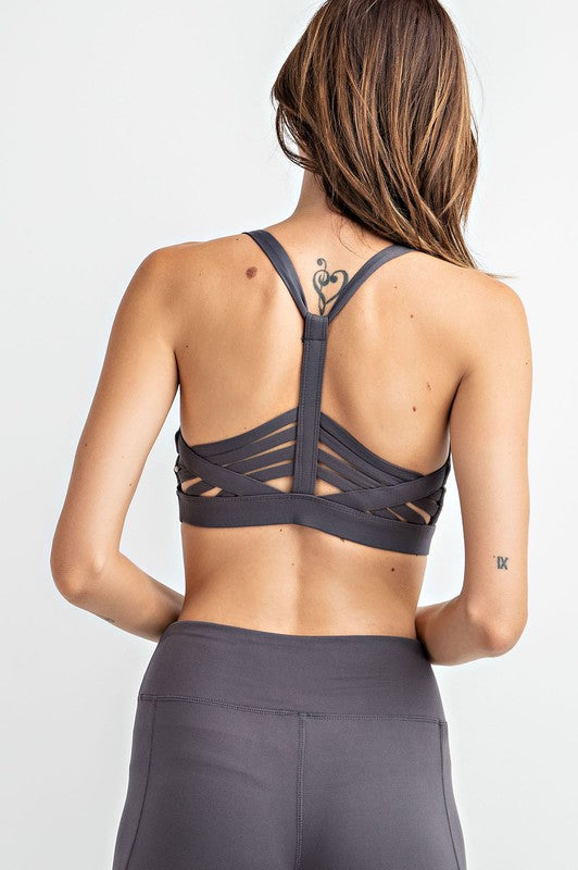 Y-Racerback Padded Sports Bra | 3 Colors!