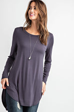 Load image into Gallery viewer, LONG SLEEVE SCOOP TUNIC | 5 COLORS