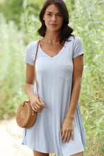 Load image into Gallery viewer, GREY T-SHIRT SWING DRESS