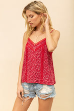 Load image into Gallery viewer, LACE TRIM FLORAL TANK