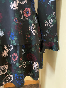 JACK BY BB DAKOTA THERE WILL BE BLOOMS BLACK FLORAL DRESS