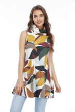 Load image into Gallery viewer, SLEEVELESS PRINT COWL DRESS