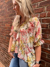 Load image into Gallery viewer, NATURAL MIX FLORAL TOP