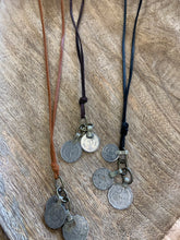 Load image into Gallery viewer, Coin + Leather Necklace