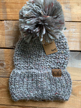 Load image into Gallery viewer, CC FEATHER YARN POM BEANIE
