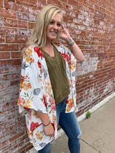 Load image into Gallery viewer, WHITE FLORAL KIMONO | REGULAR + PLUS