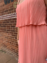 Load image into Gallery viewer, CORAL PLEATED DRESS