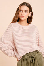Load image into Gallery viewer, LIGHT PINK BATWING SWEATER