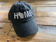 Load image into Gallery viewer, WISCONSIN BLACK HOME HAT