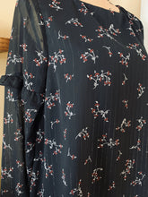 Load image into Gallery viewer, JACK BY BB DAKOTA BLACK FLORAL DRESS