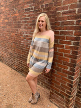 Load image into Gallery viewer, SOFT STRIPE SWEATER DRESS
