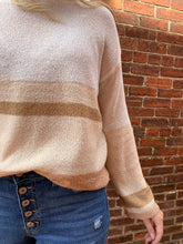 Load image into Gallery viewer, ROSE PINK STRIPE LIGHTWEIGHT PULLOVER