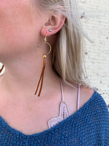 MERMAID CAMEL TASSEL EARRING