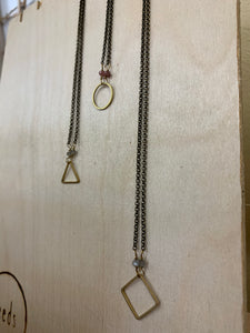 SHORT SHAPE NECKLACE | 3 SHAPES
