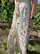 Load image into Gallery viewer, NATURAL FLORAL MAXI WRAP DRESS