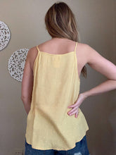 Load image into Gallery viewer, DUSTY YELLOW SWISS DOT HALTER TANK