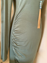 Load image into Gallery viewer, OLIVE SIDE RUCHED DRESS