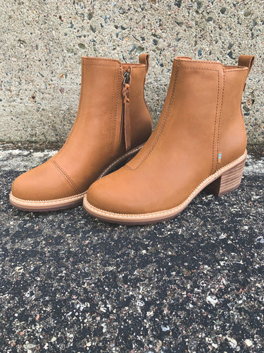 TOMS TAN MARINA LEATHER BOOT | 9.5