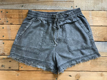 Load image into Gallery viewer, DENIM TENCEL FRAYED SHORTS | 2 COLORS