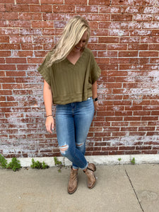 OLIVE BURNOUT CROP
