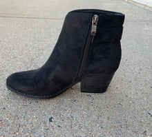 Load image into Gallery viewer, RORY BLACK SUEDE BOOTIE