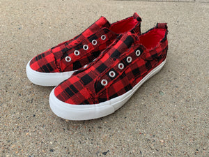 BUFFALO PLAID SNEAKERS | 2 COLORS