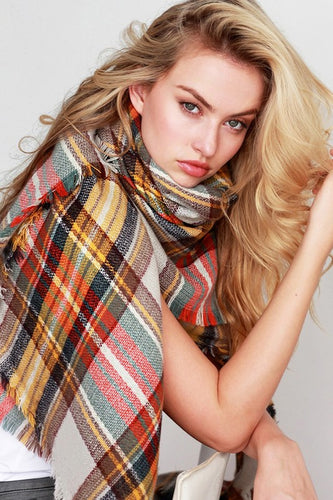 PLAID BLANKET SCARF | 2 COLORS