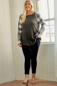 SOFT PLAID RAGLAN | PLUS