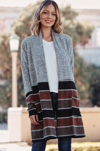 STRIPE SWEATER CARDIGAN