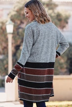 Load image into Gallery viewer, STRIPE SWEATER CARDIGAN