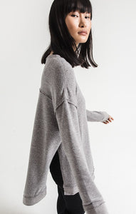 Z SUPPLY GREY VACAY PULLOVER TUNIC