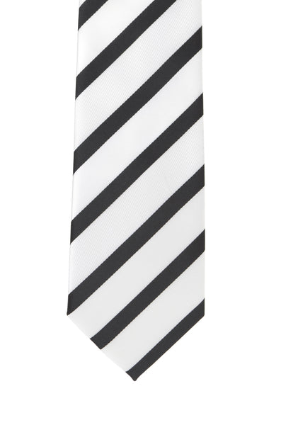 White, Black Stripe
