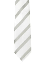 White, Grey Stripe