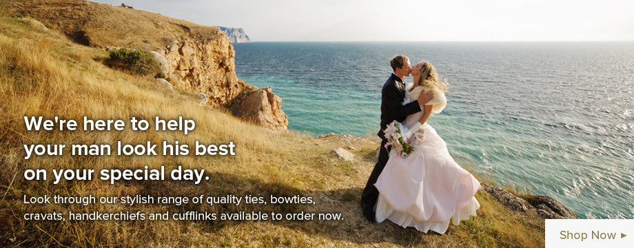 Shop for wedding ties, bowties and hankerchiefs