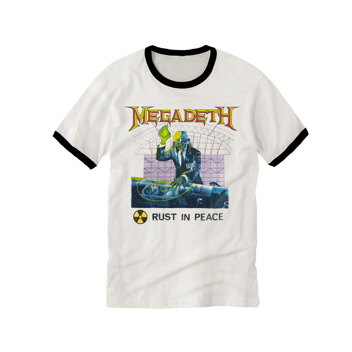 Megadeth White Ringer Ladies Tee