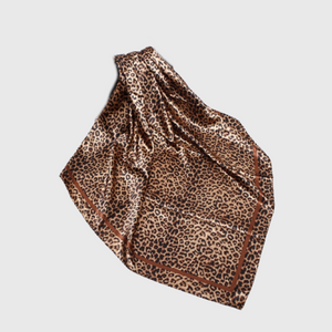 Load image into Gallery viewer, Leopard Satin Scarf
