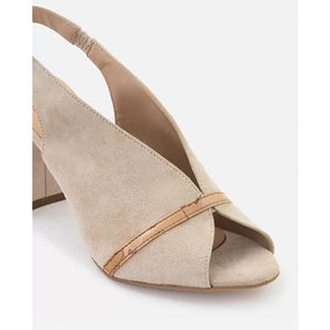 Sandal in suede leather Nude LG100162