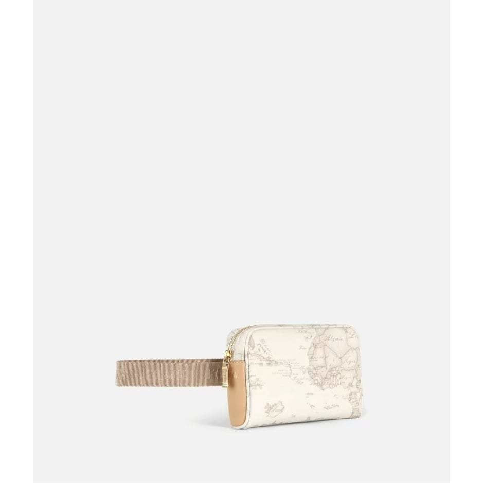 Geo White Belt bag with fabric strap CN100141