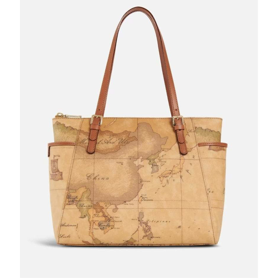 Geo Classic Small Shopping bag with buckles brown